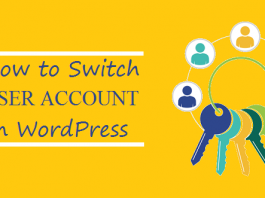 How to Switch USER ACCOUNT in WordPress
